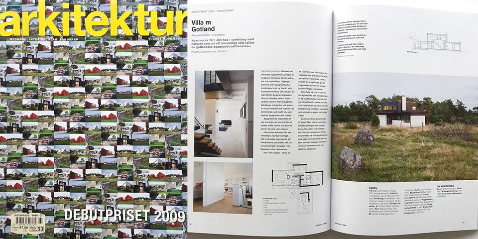 Arkitektur Debut 2009